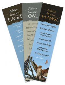 """""""Advice From…""""™ Birds Of Prey (Bookmark Set Of 3)."""