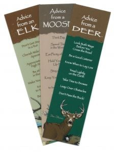 """""""Advice From…""""™ The Deer Family (Bookmark Set Of 3)."""