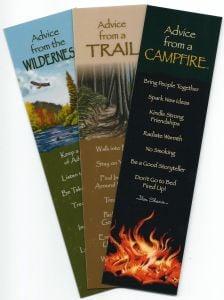 "ֳ¢ג'¬ֵ""Advice Fromֳ¢ג'¬ֲ¦""ֳ¢ג€ֲ¢ Wilderness Hikers (Bookmark Set Of 3)."