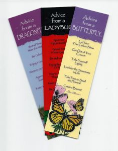 """""""Advice From…""""™ Insects (Bookmark Set Of 3)."""