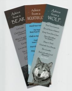 """""""Advice From…""""™ North American Mammals (Bookmark Set Of 3)."""
