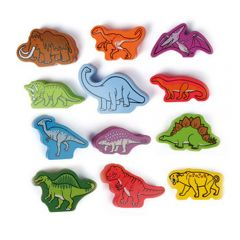 Roaming Dinosaurs Wood Blocks (Qubes)