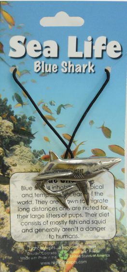Blue Shark Pendant Necklace