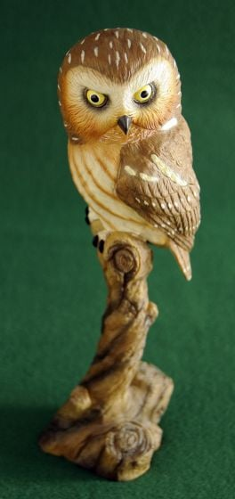 Saw-Whet Owl Sculpture
