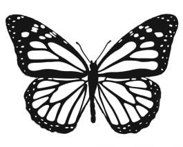 Small Monarch Butterfly Rubber Stamp