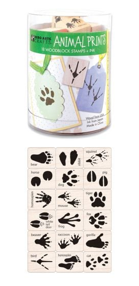 Animal Tracks Rubber Stamp Kit