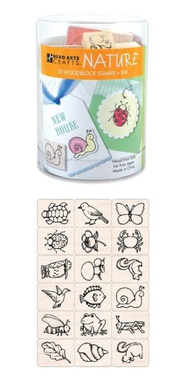 Nature Images Rubber Stamp Kit