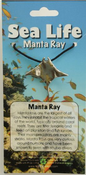 Manta Ray Pendant Necklace.