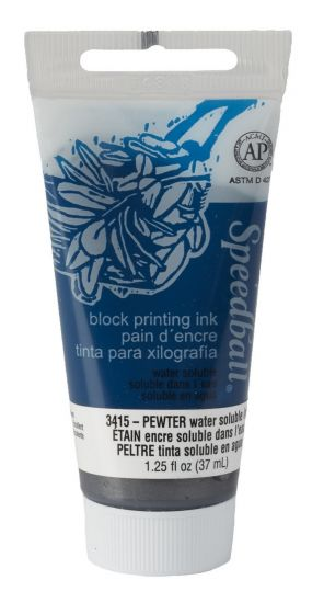 Pewter Block Printing Ink (1¼ oz)