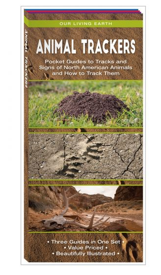 Animal Trackers: Folding Pocket Guides to Tracks, Tracking Techniques, & Animal Skulls (Our Living Earth® Series)