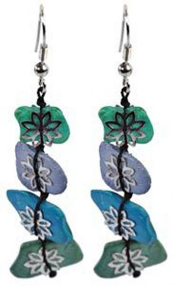 Azure Flowers Earrings