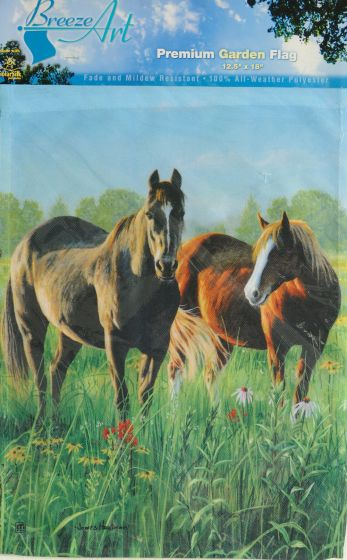 Horses Garden Flag