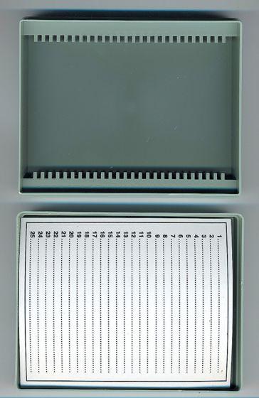 Microscope Slide Storage Box (Holds 25 Slides)