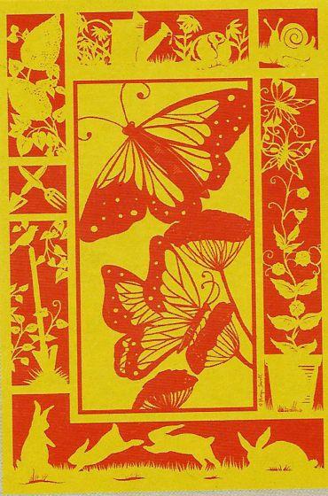 Fluorescent Butterflies Large Flag
