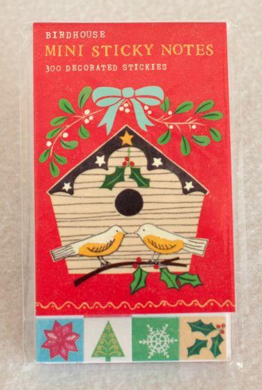 Holiday Birdhouse Mini Sticky Notes.