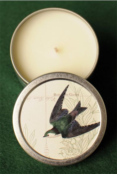 Swallow In Flight Scented Candle Tin