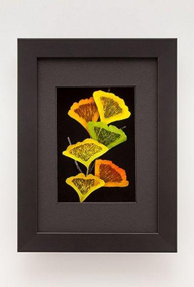 Ginkgo Leaf Shadowbox Framed Art.