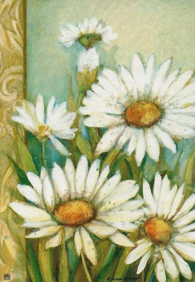 Daisies Large Standard Flag