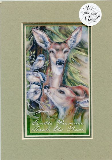 Deer Mailable Art Card.