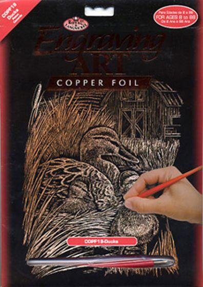 Ducks Engraving Kit (Copper Foil Background)