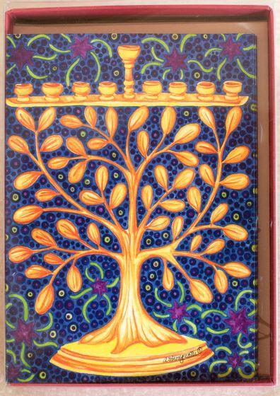 Branched Menorah Holiday Boxed Notes.