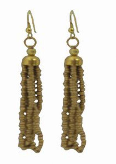 Tibetan Naga Tribal Earrings (Gold)