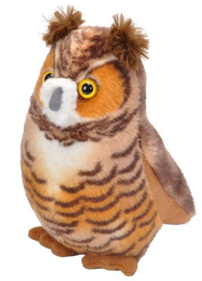 GREAT HORNED OWL (Audubon Plush Bird).