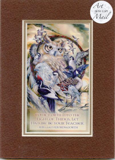 Wild Birds Mailable Art Card.