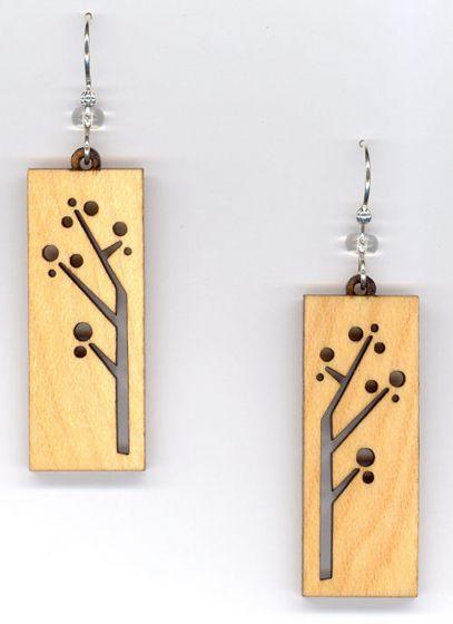 Trees Maple Wood Earrings