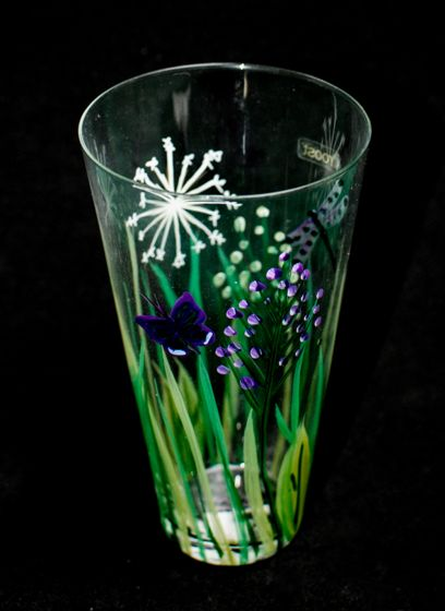 Painted Meadow Glass (Tall)