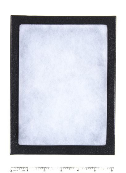 "Extra-Depth Glass-Topped Display Case (6"" X 8"" X 2"")."
