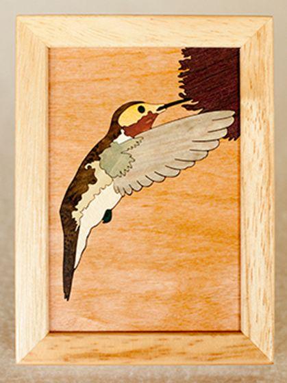 Hummingbird Wood Box (4 X 5)