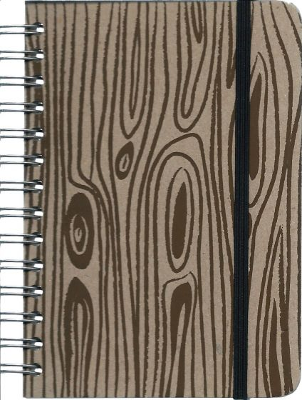 Faux Woodgrain Mini Journal.