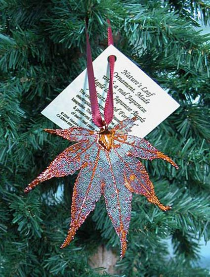 Japanese Maple Leaf Copper Ornament