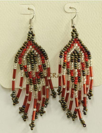 Mayan Beaded Earrings.