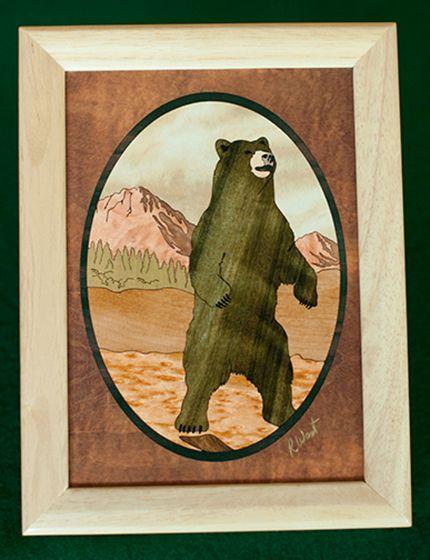 Black Bear Wood Box (6 X 8)