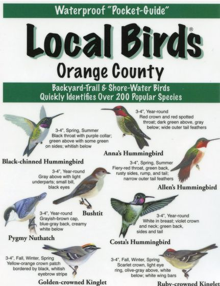 Local Birds Of Orange County (Laminated Fold-Out Guide).