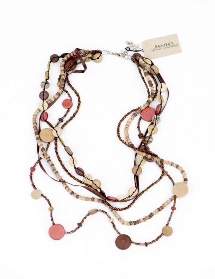 Coppery Bead Necklace
