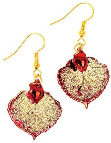 Aspen Leaf Copper Earrings