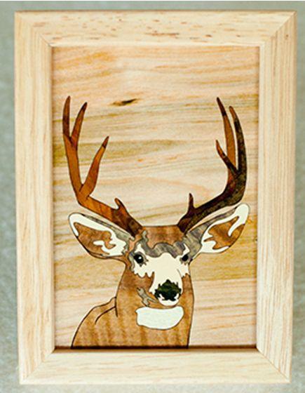 Deer Buck Wood Box (4 X 5)