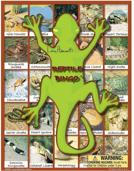 Reptile Bingo Game
