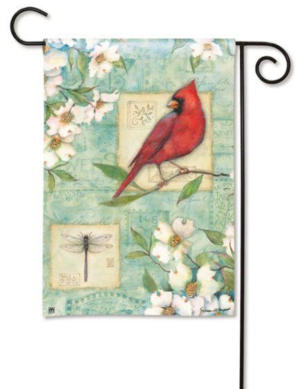 Pastel Cardinal Small Garden Flag