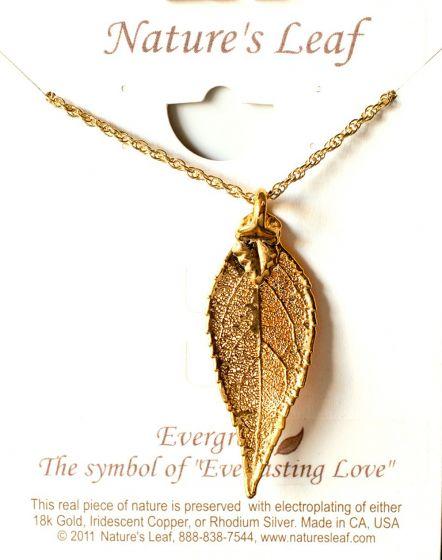 Evergreen Leaf Gold Necklace (Nature'S Leaf).