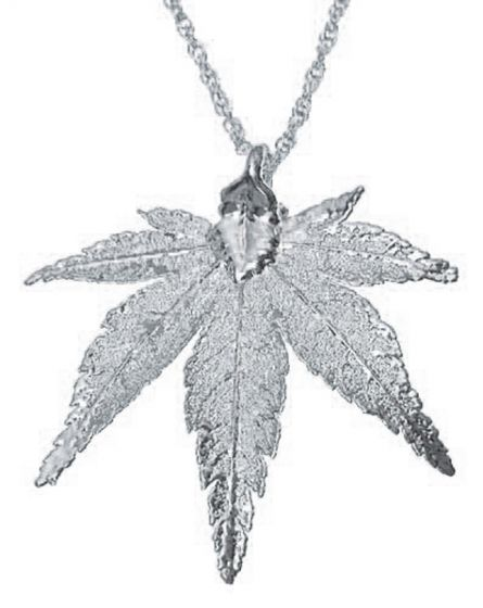 Japanese Maple Leaf Silver Necklace