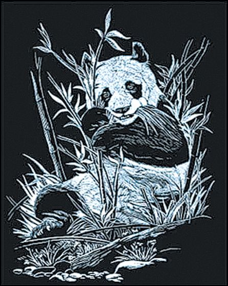 Panda Engraving Kit (Silver Foil Background)