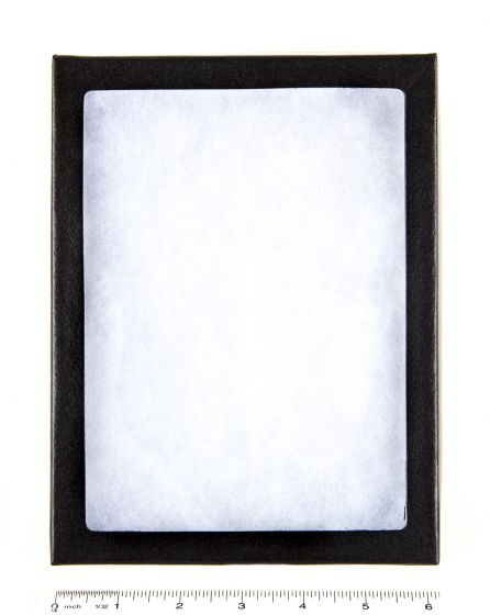 "Flexible Plastic-Topped Display Case (6"" X 8"" X ¾"")."