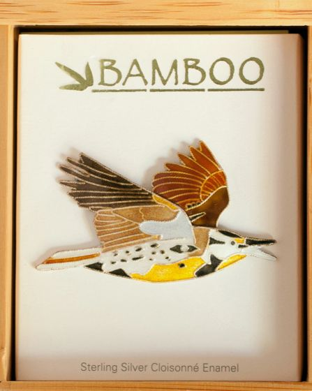 Meadowlark Pin (Bamboo Jewelry).