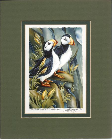 Puffins Two Beaks Or Not Two Beaks Print
