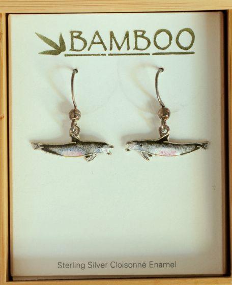 Bottlenose Dolphin Earrings (Bamboo Jewelry).