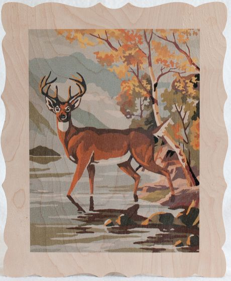Deer By Autumn Lake Artboard